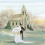 DAHLGREN CHAPEL by  P. Buckley Moss  - Masterpiece Online