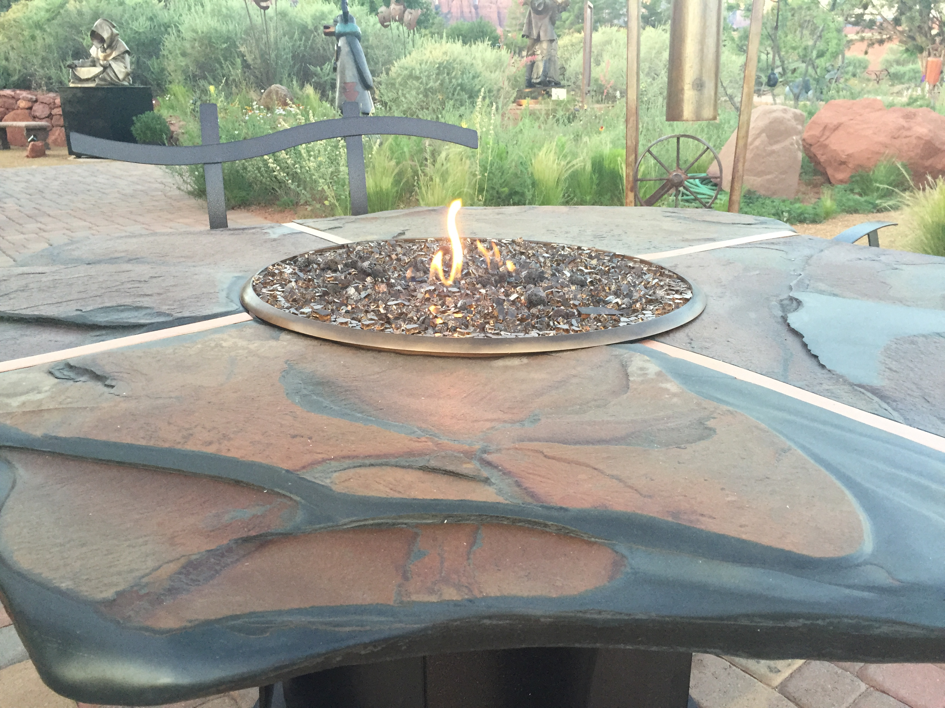 Stone Fire Table 48 by  Christopher Null - Masterpiece Online