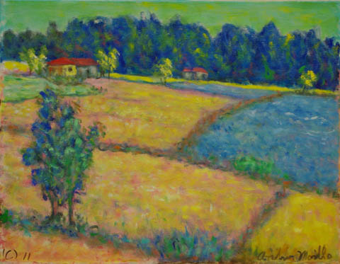Farm Landscape by  Andres  Morillo - Masterpiece Online