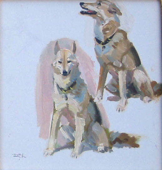 Penny Sitting by  Robert Lougheed - Masterpiece Online