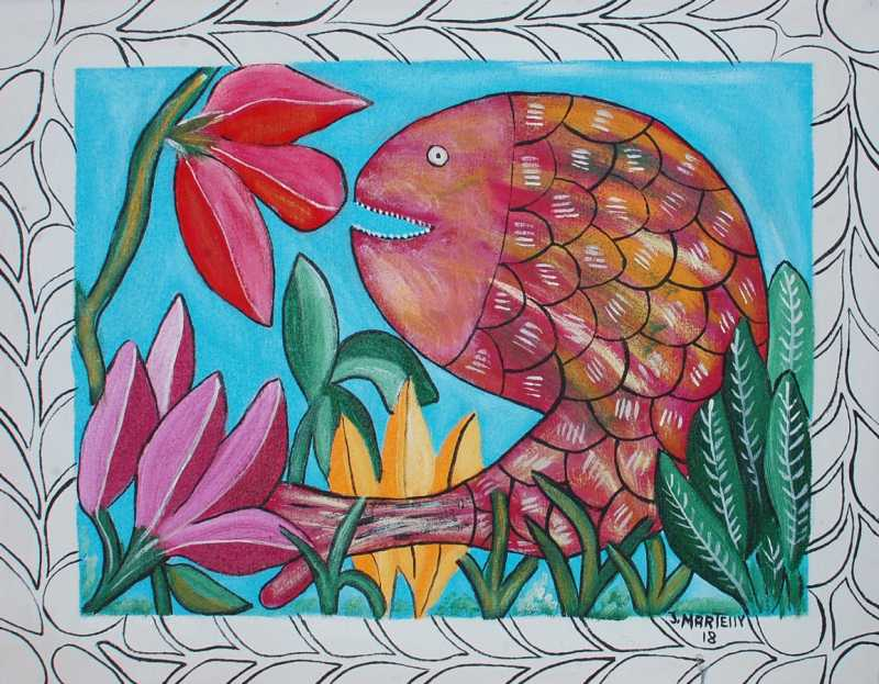 Flower Fish by  Jameson MARTHELLY - Masterpiece Online