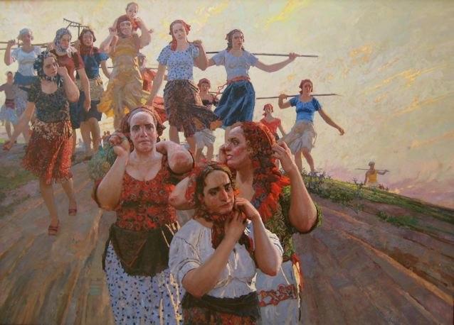 Workers Return from t... by  Daud Akhriev - Masterpiece Online