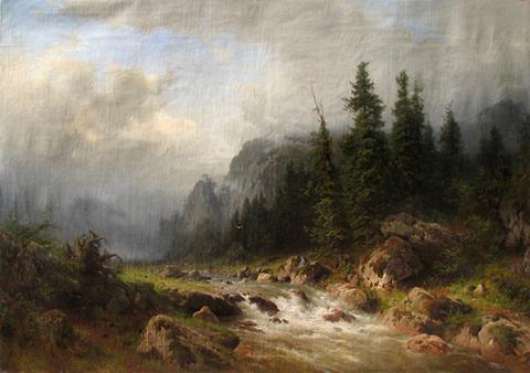 Alpine Landscape by  Heinriche Frische - Masterpiece Online