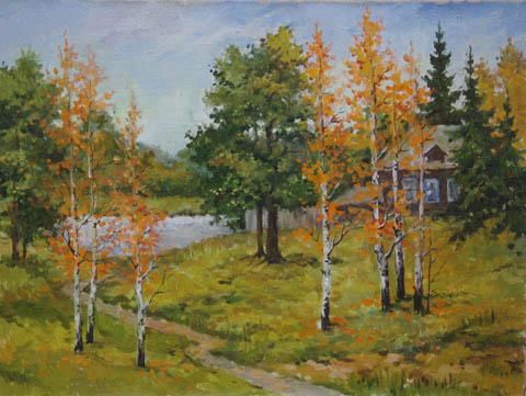 Autumn Aspens by   Kuzin - Masterpiece Online