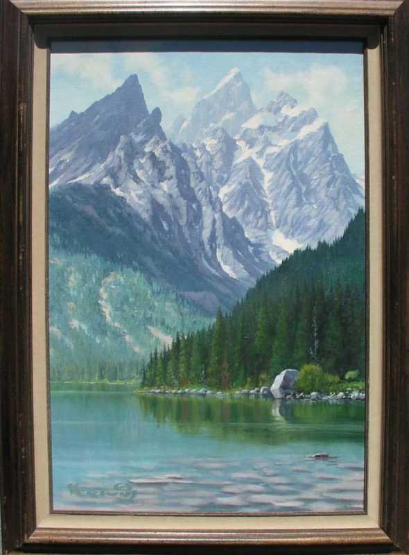 Jenny Lake by  Roy Kerswill 1925-2002 - Masterpiece Online