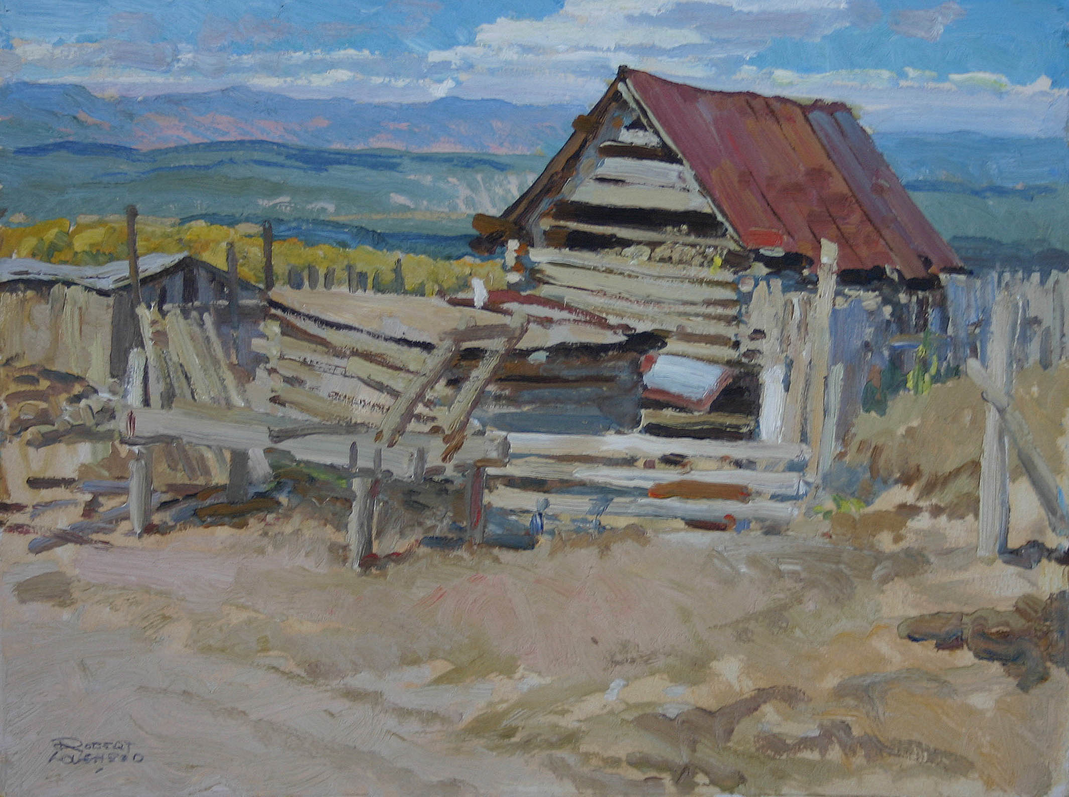 New Mexico Barn by  Robert Lougheed - Masterpiece Online