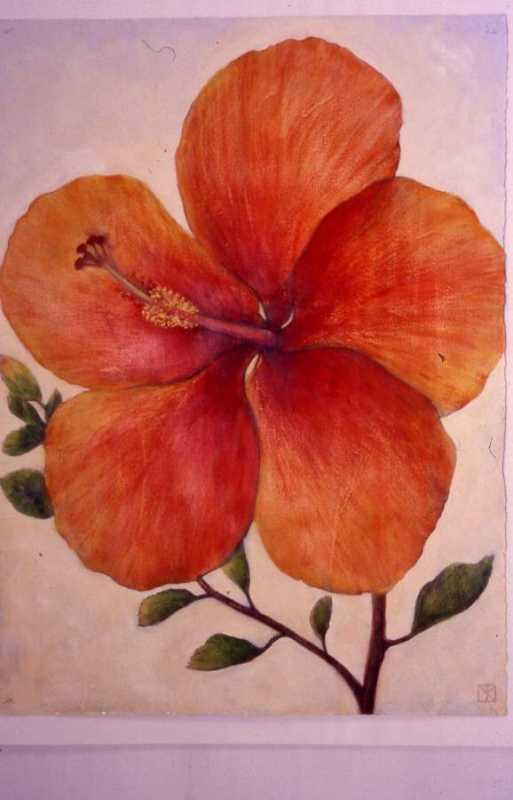 Red Hibiscus by  Mari Kuramochi - Masterpiece Online