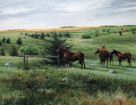 Four Horses by  Michael Wheeler - Masterpiece Online