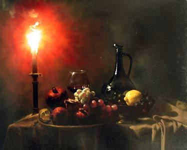 Still Life by Candlel... by  Alexei Antonov - Masterpiece Online
