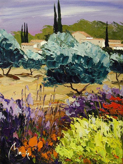 Olive Grove by  Louis  Magre - Masterpiece Online