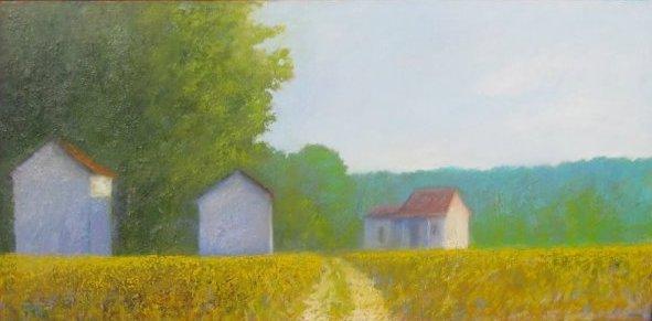 Farm Buildings in Aft... by  John Gaitenby - Masterpiece Online