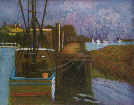 Wharf at Shem Creek #2 by  Joseph Cave - Masterpiece Online