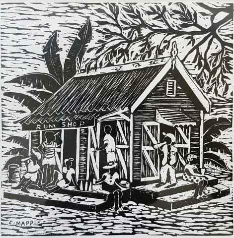 Rum Shop by Mr. Clairmonte Mapp - Masterpiece Online