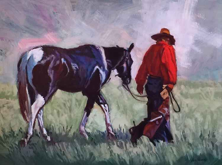 SOLD- Man In Red by  Glen Edwards - Masterpiece Online