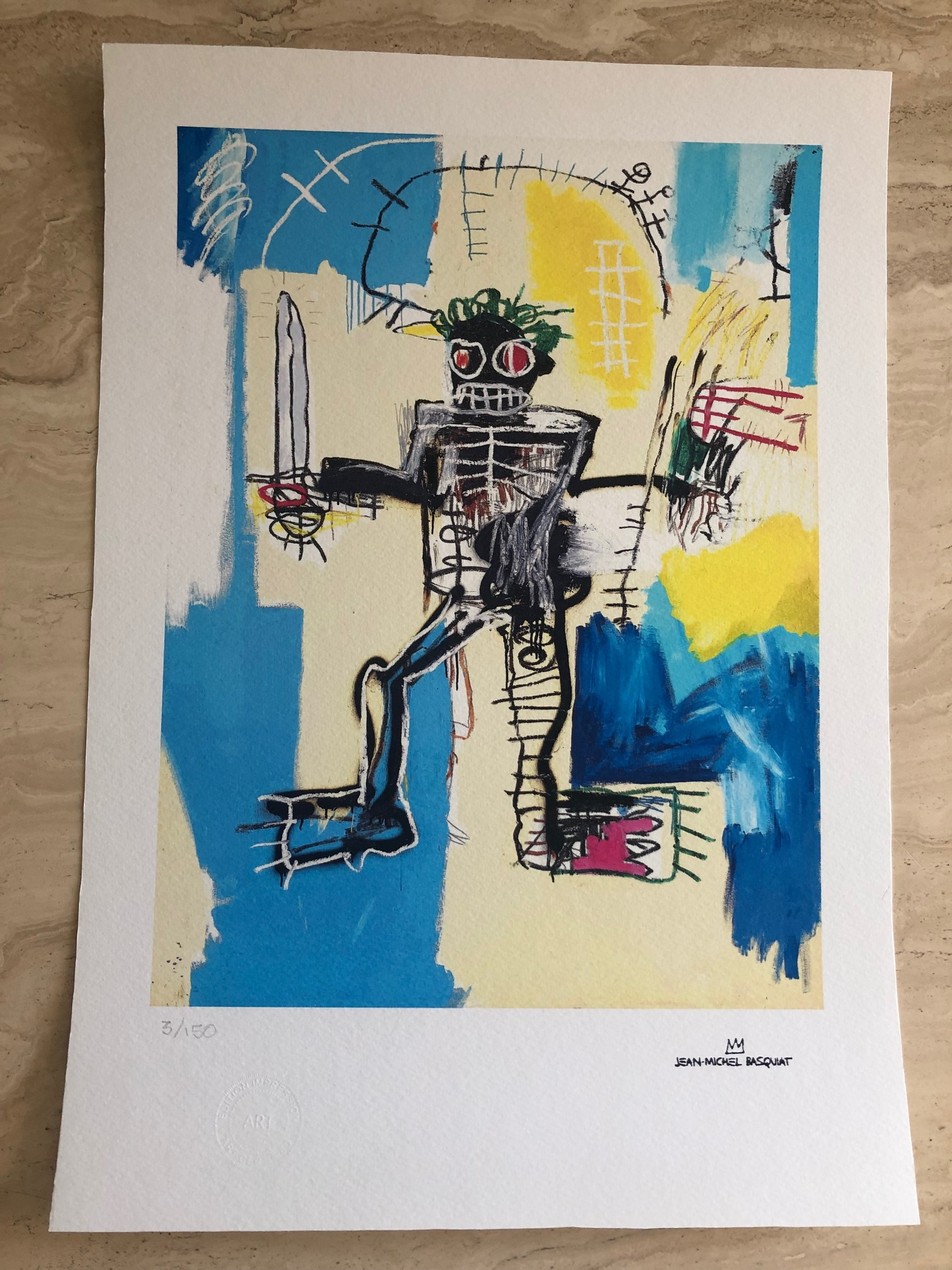 Warrior by  Jean-Michel Basquiat - Masterpiece Online
