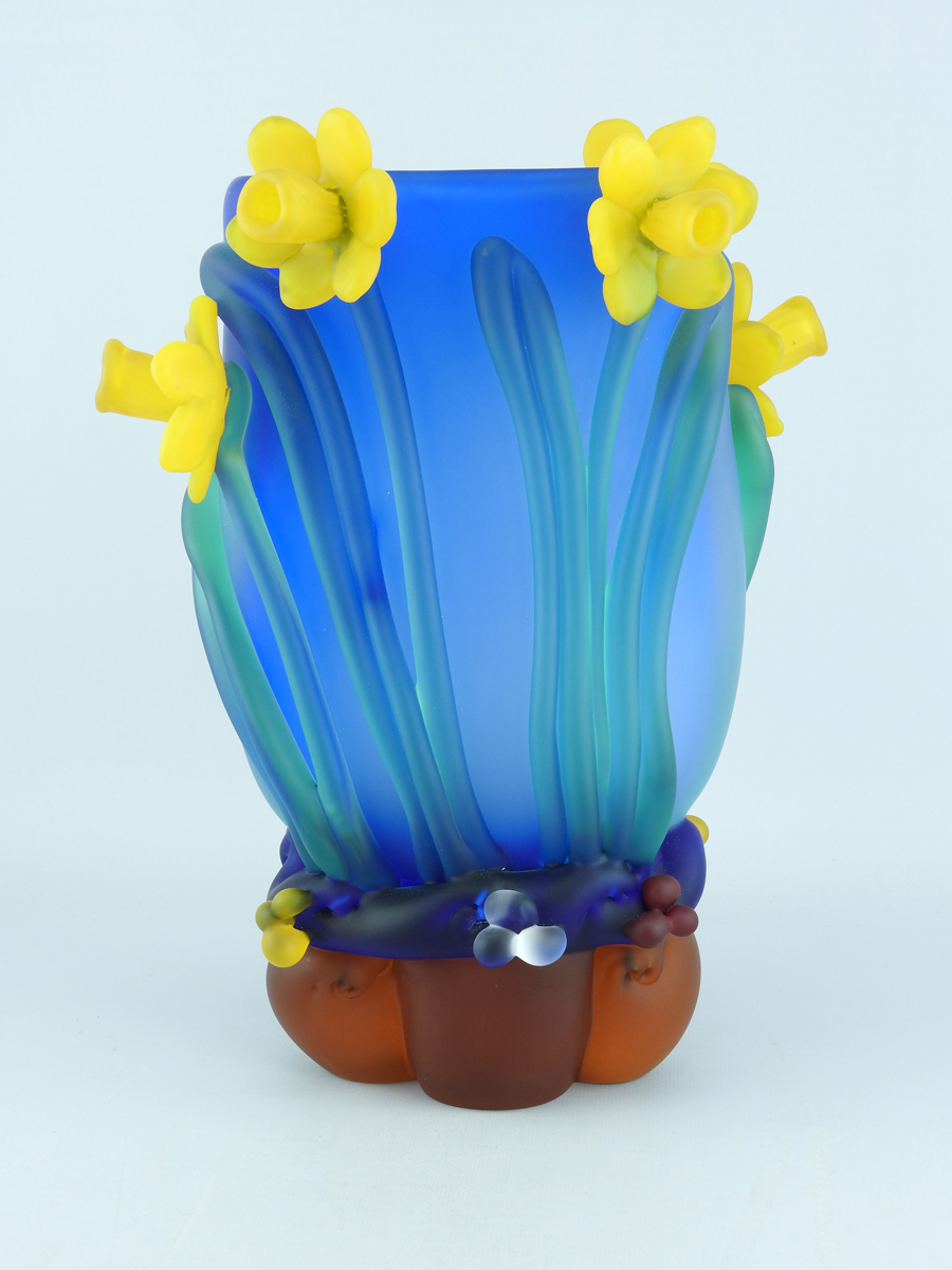 Large Daffodil Vase by  Tommie Rush - Masterpiece Online