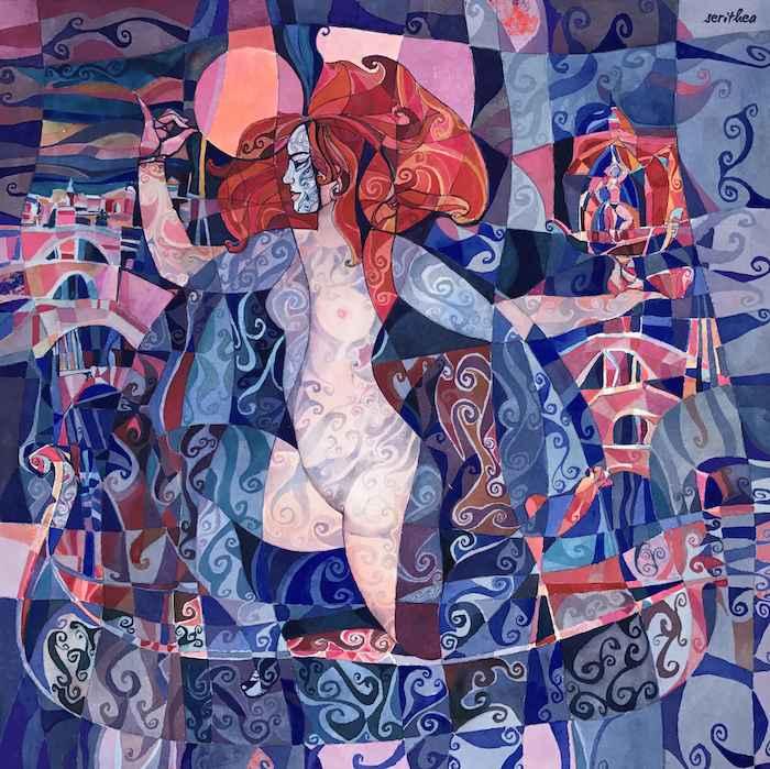 Venice Large Wrap by  Daud Akhriev - Masterpiece Online