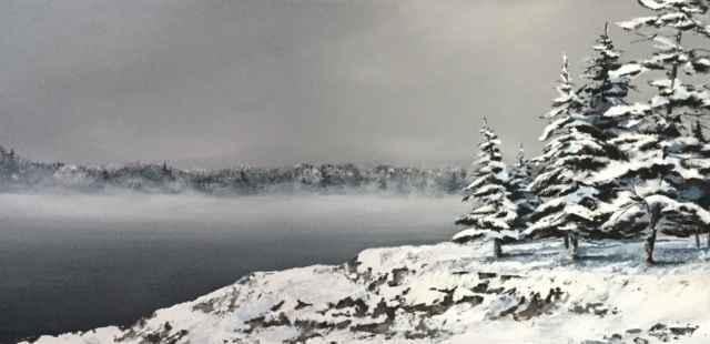 Rocky Shoreline by  Janet Liesemer - Masterpiece Online