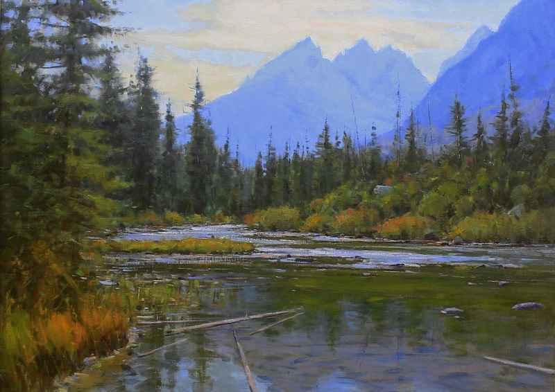 Teton Range  by  John Hughes