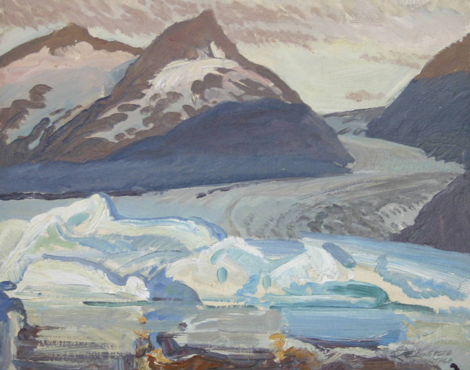 Portage Glacier - Blu... by  Robert Lougheed - Masterpiece Online