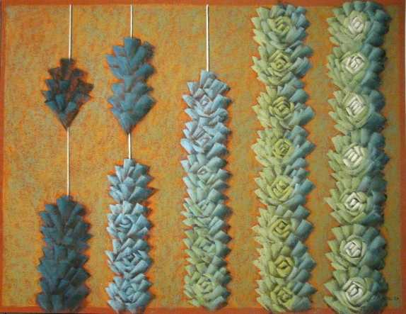 Stringing a Pastel Lei by  Shelley S. M. Miller - Masterpiece Online