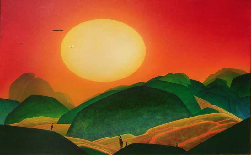 Mountain Sunset by  John Revill - Masterpiece Online