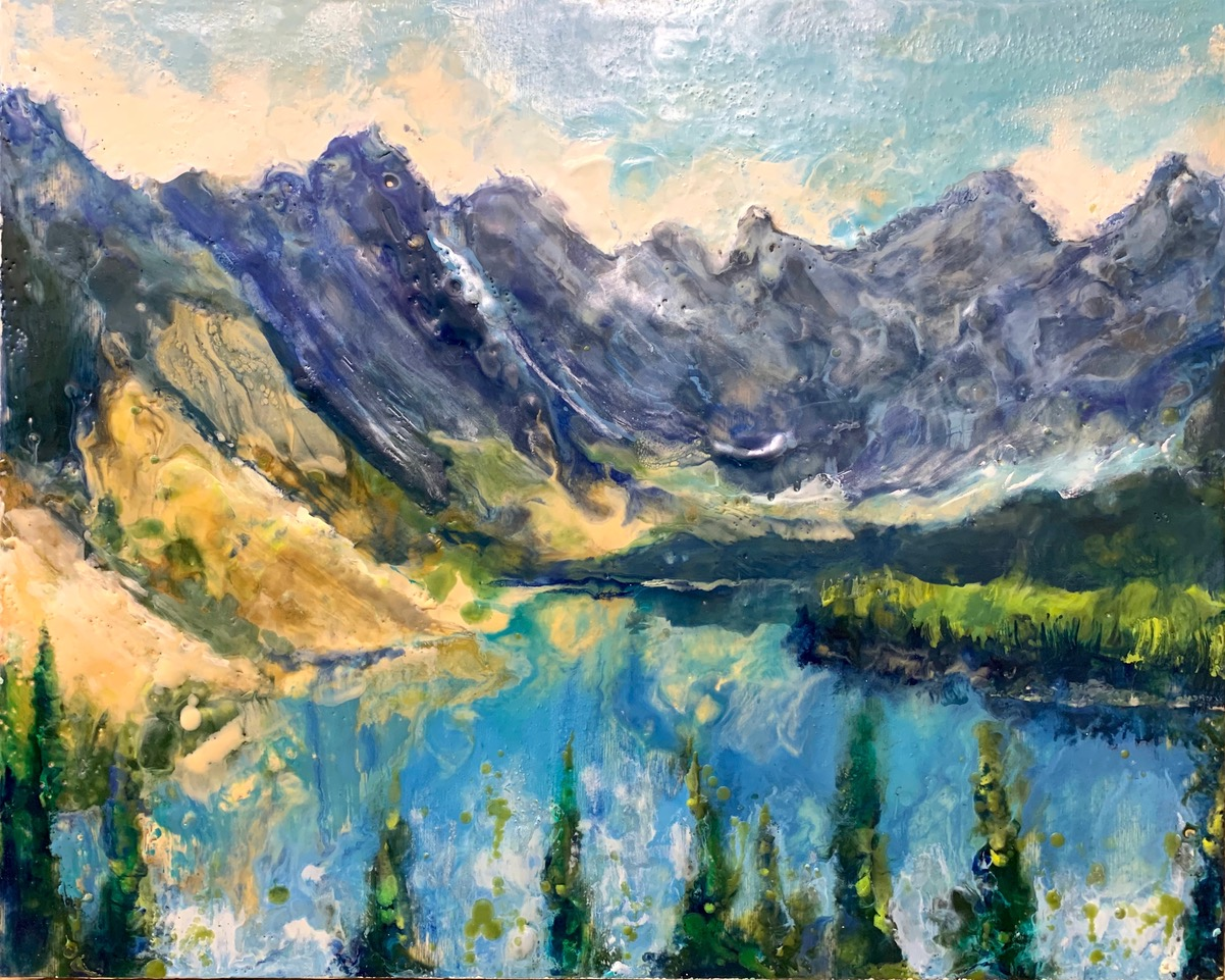 Lake Moraine by  Kathy Bradshaw - Masterpiece Online
