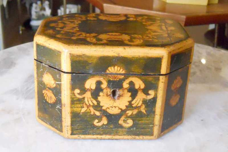 Marquetry Tea Caddy by   English - Masterpiece Online