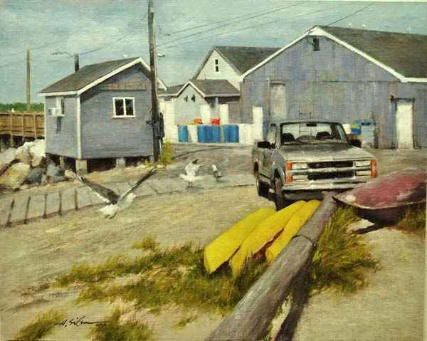 Quiet Day at the Docks by  Hodges Soileau - Masterpiece Online