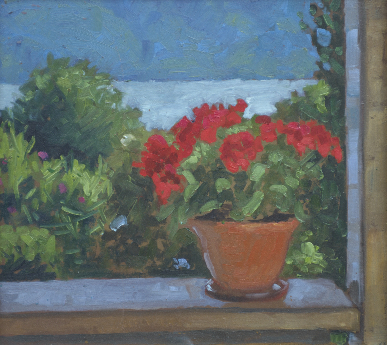 Elsbeth's Geraniums by  Melissa Hefferlin - Masterpiece Online