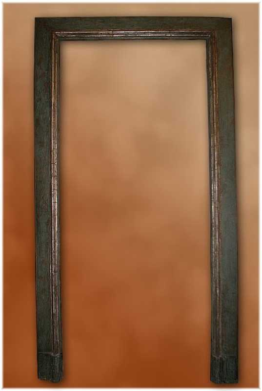 17th C. Painted Italian Door Frame By None None