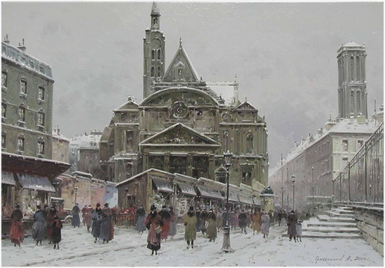 Paris Market by  Vasily Gribennikov - Masterpiece Online