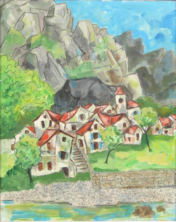 Turkish Village by  Tom Maley - Masterpiece Online