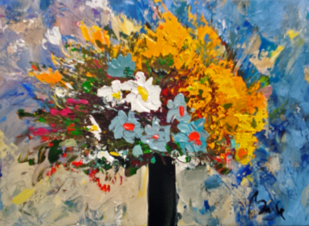 Vase of Flowers by  Louis  Magre - Masterpiece Online