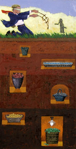 Basket Of Money represented by  by  Joe Cepeda