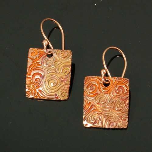 PRE1359 Copper Earrin... by  Pam East - Masterpiece Online