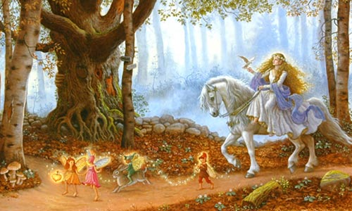 Fairy Procession  by  Ruth Sanderson