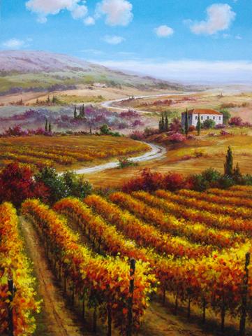 Vineyard Rows by  Soon Ju Choi  - Masterpiece Online