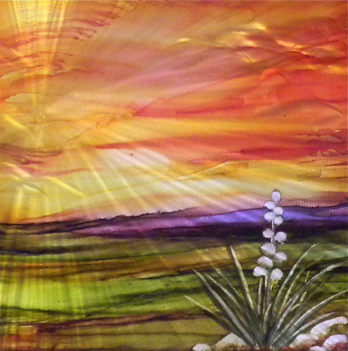 Purple Sunrise #242 by  Lynn Rae Lowe - Masterpiece Online
