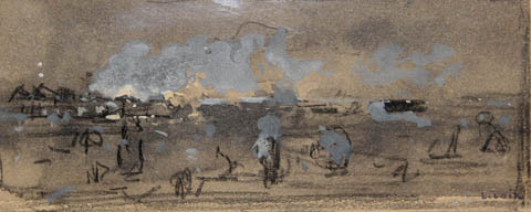 Le Quai  Le Seine - P... by  Luigi  Loir - Masterpiece Online