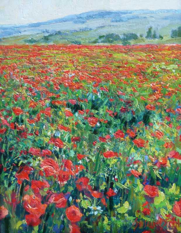 Poppies Forever by  Susan Diehl - Masterpiece Online