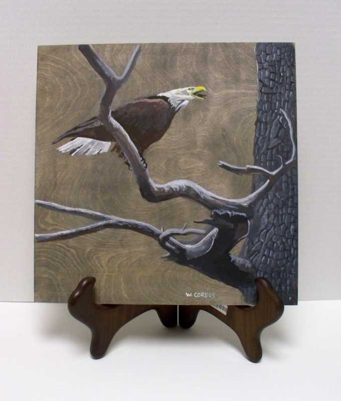 WC248 Eagle on Limb by  William Cordes - Masterpiece Online