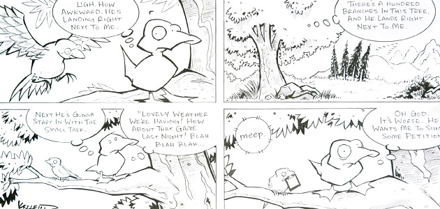 How Awkward by  Dave Kellett - Masterpiece Online