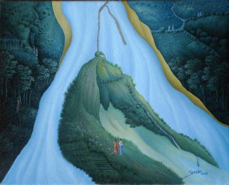 Waterfall represented  by  Jean-Louis SENATUS