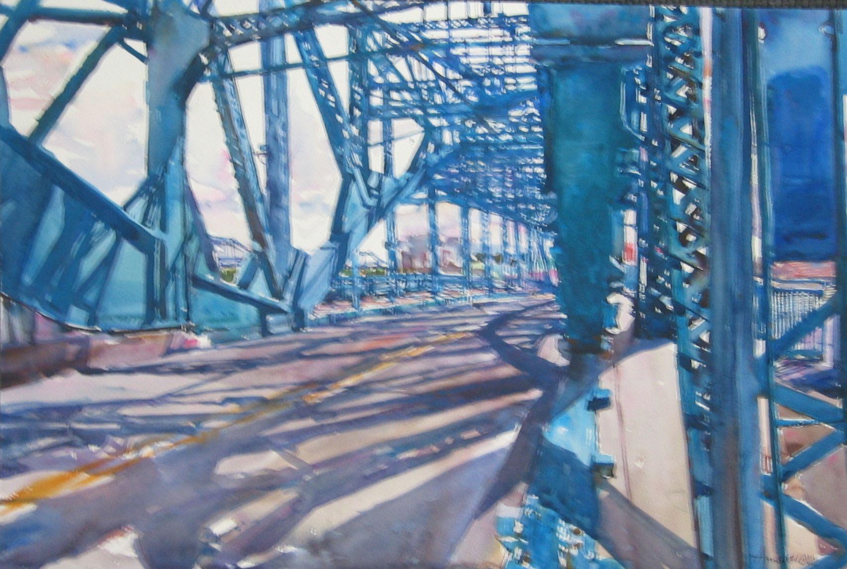 Blue Structure 2 by  Daud Akhriev - Masterpiece Online