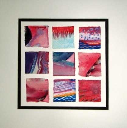 Nine Squares: pink by  Cindy Conklin - Masterpiece Online