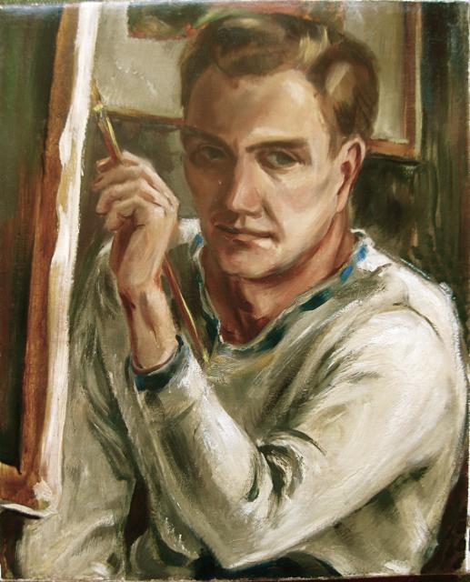 Self-Portrait - White... by  Robert Benjamin Norris (1910-2006) - Masterpiece Online