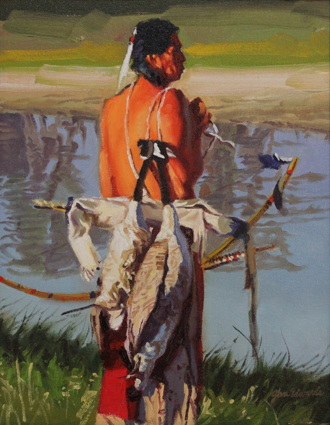 SOLD- Morning Hunt by  Glen Edwards - Masterpiece Online