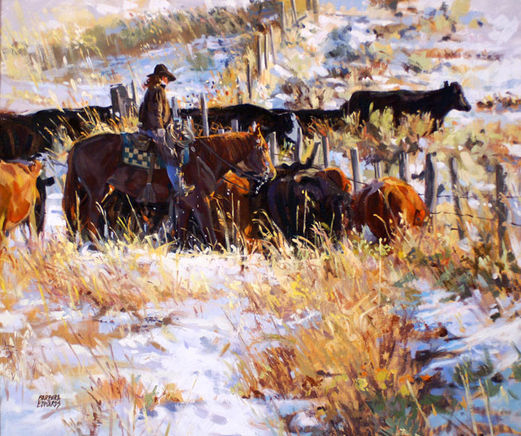 SOLD: First Snowfall by  Barbara Summers Edwards - Masterpiece Online