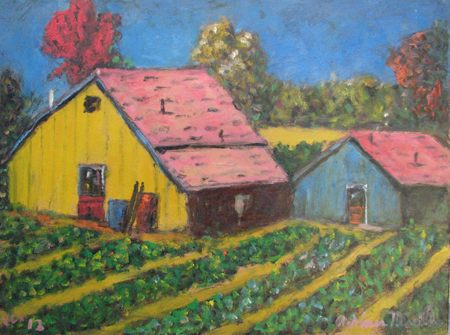 Barn on the Farm by  Andres  Morillo - Masterpiece Online